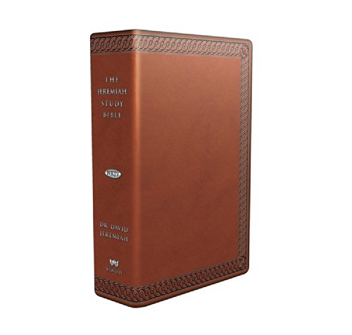 The Jeremiah Study Bible, NKJV: (Brown W/ Burnished Edges) Leatherluxe(r): What It Says. What It Means. What It Means fo