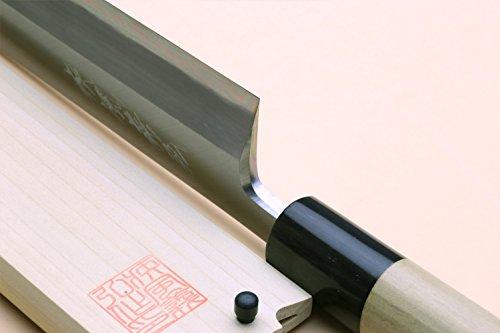 Yoshihiro Shiroko High Carbon Steel Kasumi Edosaki Japanese Eel Fillet Chef Knife 7''(180mm) by Yoshihiro (Image #3)