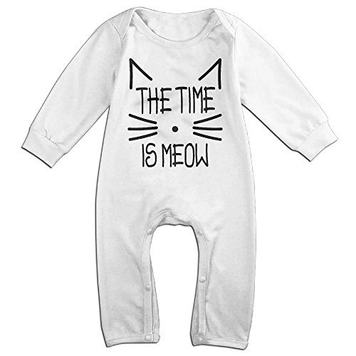 Magic Man Costume Adventure Time (Baby Girls Boys Time Is Meow Long Sleeve Climb Clothes 6 M White)