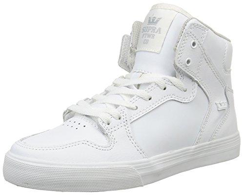 Hautes Enfant Blanc Supra Kids Mixte Vaider Sneakers White White gXOtY