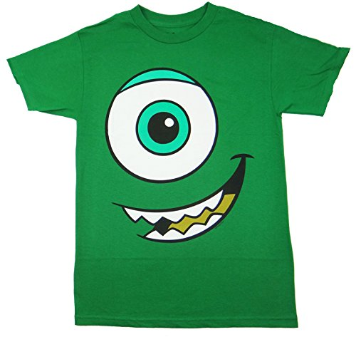 Disney Sulley Costume Adults (Monsters Inc Mike Wazowski Big Face T-shirt (Large, Green))