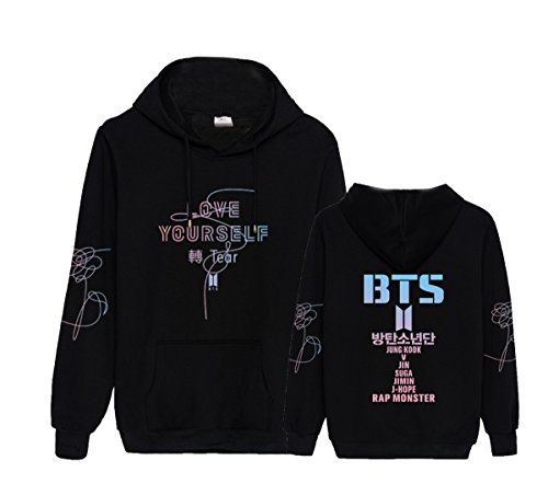 Kpop BTS Love Yourself Hoodie J-Hope Jimin Jung Kook V Pullover Sweater by ACEFAST INC (Image #1)'