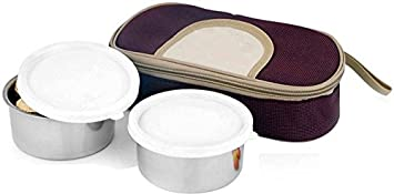 Blue Birds Leak Proof Hot And Cold 2 Containers Lunch Box  1000 ml  Kitchen Storage   Containers