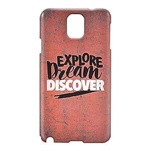 Loud Universe Samsung Galaxy Note 3 3D Wrap Around Explore Dream Discover Print Cover - Multi Color