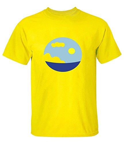 zd215zd Sea Scene Tee Shirts For Man S Yellow