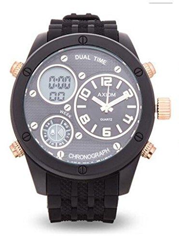 Mens Axiom Quartz Analog & Digital Wrist Watch