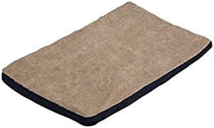 Dallas Manufacturing Co. Fleece and Nylon Orthopedic Pet Bed, 30-Inch-by-40-Inch, Navy