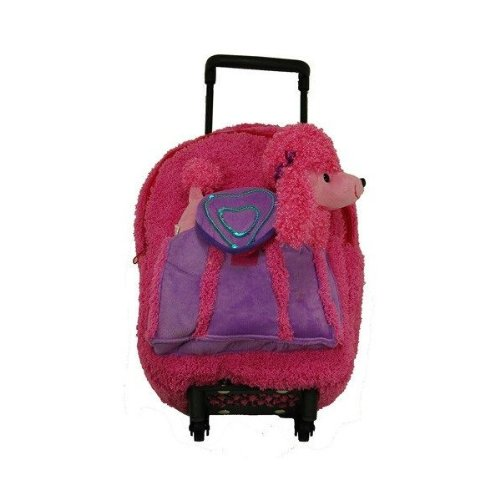 Peco Convertible Small Kids Rolling Luggage Backpacks For Kids Rolling Backpack With Stuffed Animal Plush Toy For Travel