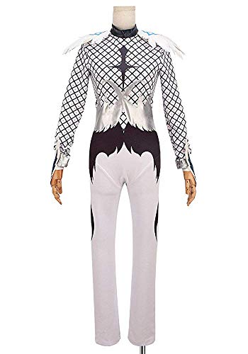 cossun Yuri!!! on ICE Yuri Plisetsky Agape White Performance Cosplay Costume Anime halloween (Women,Custom -