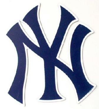 New York Yankees NY Logo MLB Large Car Magnet