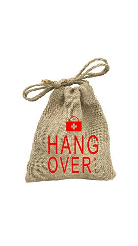 The Crazy Me Unisex Jute Hangover Kit/Pouch  Brown