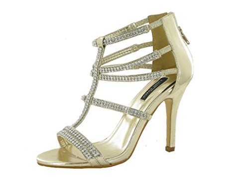 Ubershoes , Damen Sandalen Gold