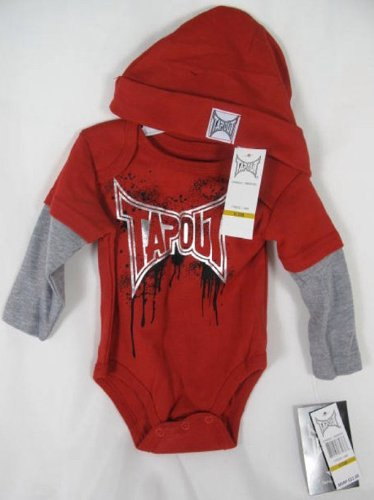 Tapout Infant Baby Kid Youth Bodysuit/ Hat One Piece Suit
