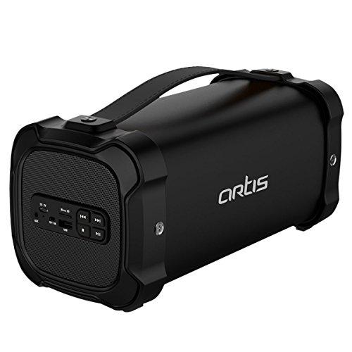 Artis BT702 Wireless Portable Bluetooth Speaker with FM/USB/AUX in/Micro SD Card Reader Input (Black)