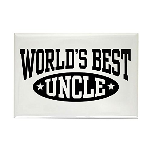 CafePress World's Best Uncle Rectangle Magnet, 2