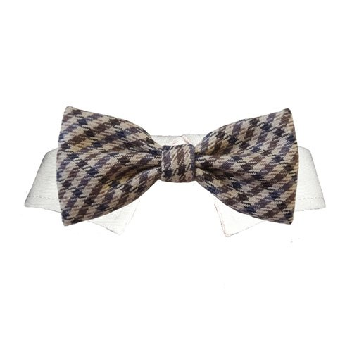 Bow Tie Dog Collar- Ethan (PEBT) (S/M- Neck 9-11 inches), My Pet Supplies