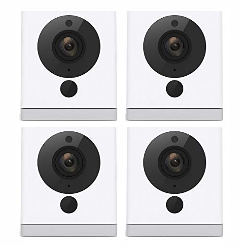 Wyze Cam Wireless Smart Home Security Camera | 1080p HD Indoor Night Vision Surveillance 2-Way Audio | Person Detection | Text Email Emergency Notify | Alexa Google Assistant Compatible (4-Pack)