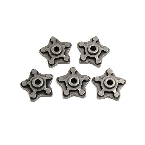 (uxcell 5 Pcs Gray Metal Star Shape Motorcycle Engine Speed Gear Shift Cam for CG125)