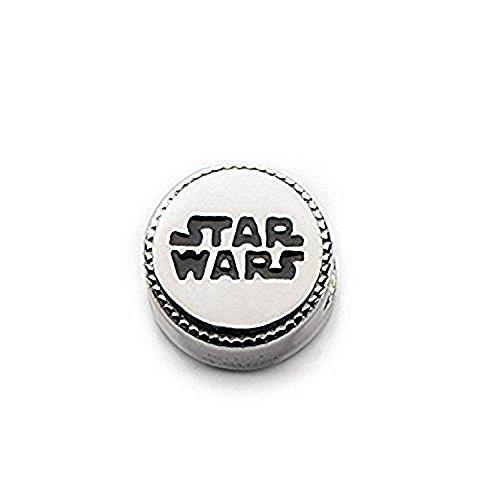 Disney Star Wars Officially Licensed Star Wars Logo Bead Charm Bracelet Stainless Steel Silver - Disney Logo Charm Disney
