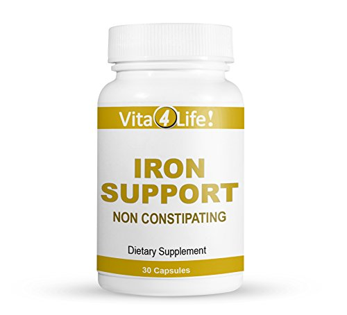 Iron Support 'Plus' Vitamin B-12 - Bariatric Supplement for Anemia - 30 (Anemia Support)