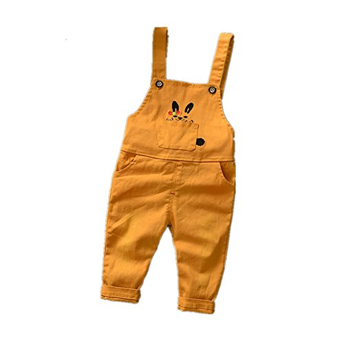 ftsucq-little-boys-girls-cartoon-bunny-overalls-suspender-trousersorange-110