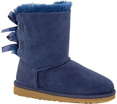 Girls' UGG Bailey Bow Big Kids - Navy Boots