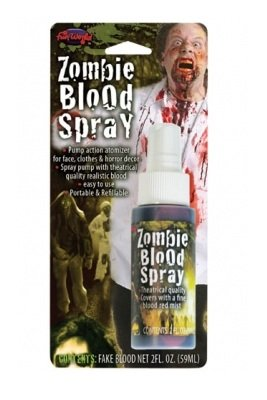 Movie Quality Costumes Uk (Movie Quality Fake Dead Zombie Blood Spray Horror Make Up Halloween Accessory)