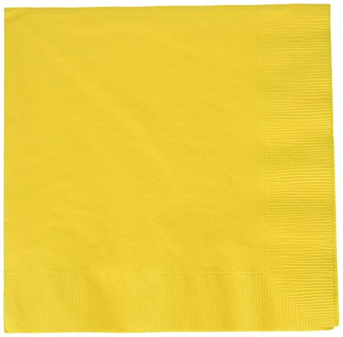 (amscan Yellow Sunshine 2-Ply Luncheon Napkins, 50 Ct. | Party Tableware)