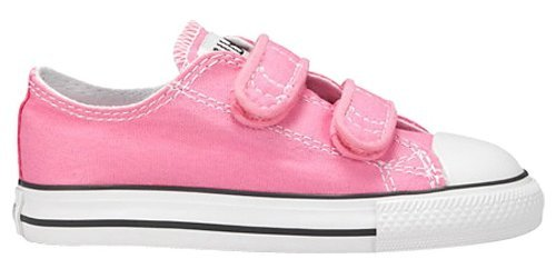 Converse Kids Baby Girl's Chuck Taylor 2V Ox (Infant/Toddler) Pink Sneaker 4 M US (Converse Canvas Shoes)