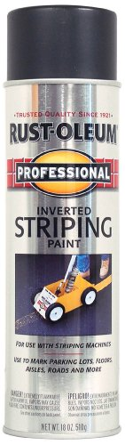 - Rust-Oleum 2578838 Professional Stripe Inverted Striping Spray Paint, 18 oz, Black