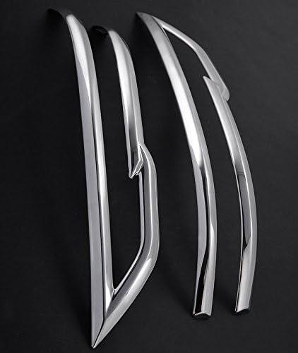 2 ABS Galvanoplastie Auto Bande de d/écoration de r/étroviseur pour Qashqai 2015 2016 2017 2018 2019