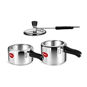 Pigeon Aluminium Pressure Cooker 2 and 3 Litre Inner Lid with Induction base