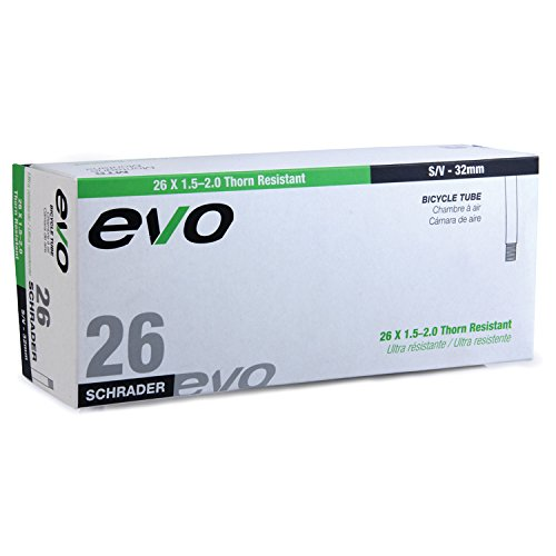 EVO Thorn Resistant Bicycle Tube - 26 x 1.5/2.0-32mm Shrader Valve (26 x 1.5/2.0-32mm Shrader Valve) ()