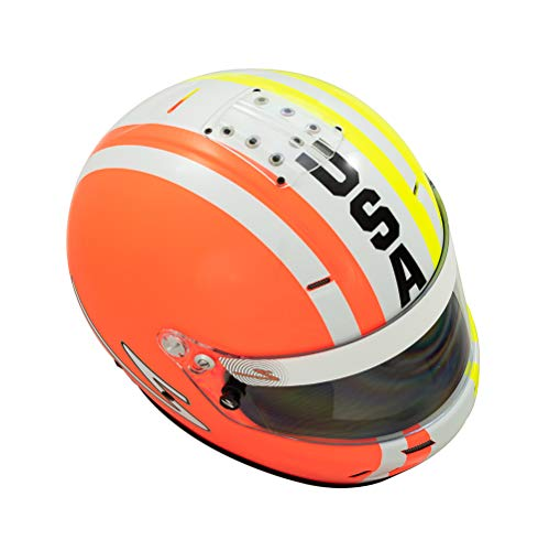 Zamp RZ-58 Snell SA2015 Helmet Z USA Graphic Orange/White/Green Medium