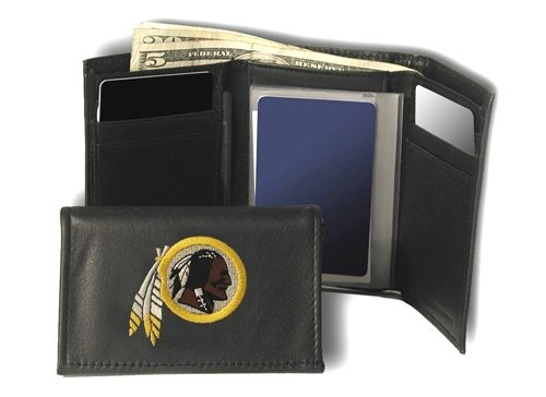 Washington Redskins Embroidered Leather Tri-Fold Wallet