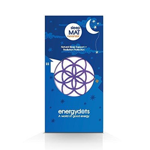 energydots sleepMAT + free smartDOT, organic mat with sleepDOT naturally supports deep nurturing sleep, and powerful EMF/radiation protection DOT for cell phone, wireless, baby monitor, etc. (Purple) by energydots