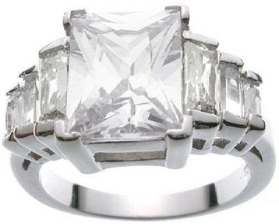 Sterling Silver Engagement Ring Size : 10