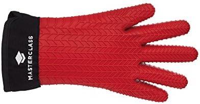 KitchenCraft - Guante para horno con dedos, silicona, color rojo ...