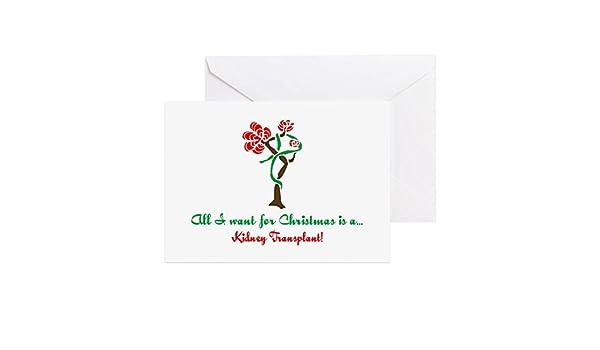 Amazon cafepress christmas wish kidney greeting card note amazon cafepress christmas wish kidney greeting card note card birthday card blank inside matte office products m4hsunfo