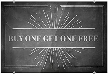 18x12 CGSignLab Buy One Get One Free 5-Pack Chalk Burst Premium Brushed Aluminum Sign
