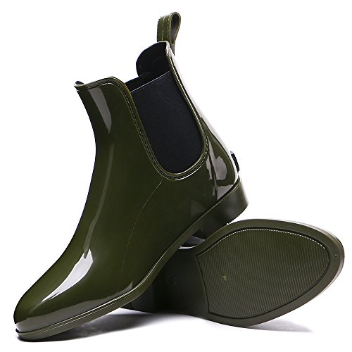 TONGPU Womens New Rain Boots Garden Outdoor Waterproof Footwear Green 4lIJ6c