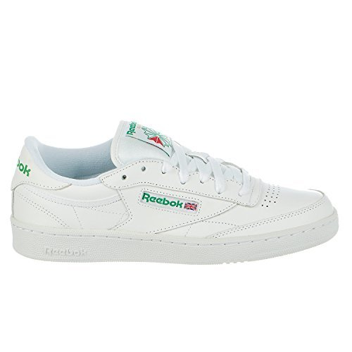 Reebok Classic Shoes (Reebok Men's Club C 85 Fashion Sneaker, INT-White/Green, 10 M US)