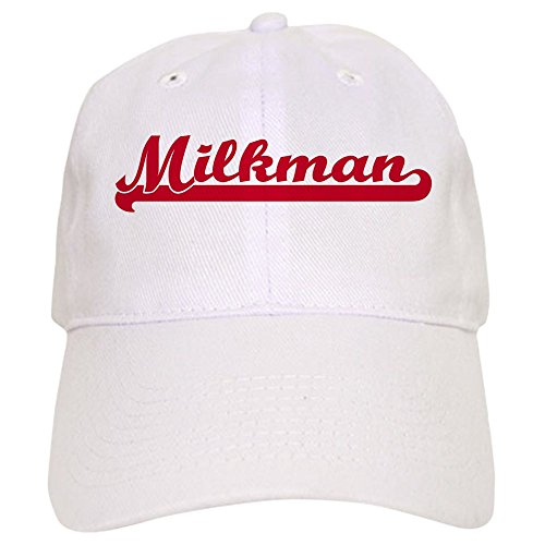 CafePress - Milkman (Sporty Red) - Baseball Cap with Adjustable Closure, Unique Printed Baseball Hat ()