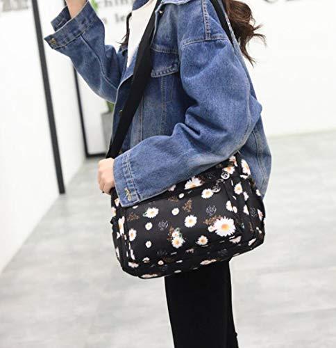 ecae40c77dca ENKNIGHT Nylon Crossbody Purse Bag for Women Travel Shoulder handbags  (White daisy)
