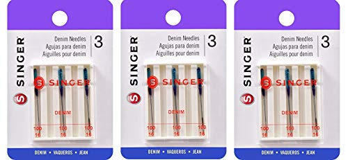 Fantastic Deal! SINGER 2108 Denim Machine Needles, Size 100/16, 3-Count (3 Pack)