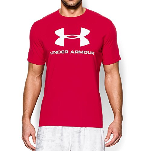 Under Armour Men's Sportstyle Logo T-Shirt, Red (600)/White, Large ()
