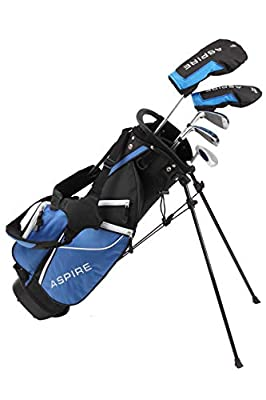 Aspire Junior Plus Complete Golf Club Set for Children Kids - 5 Age Groups Boys & Girls - Right Hand