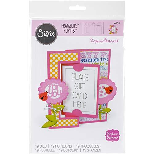 Sizzix 660714 Framelits Die Set Card, Card Flip-Its by Stephanie Barnard, 19/Pack