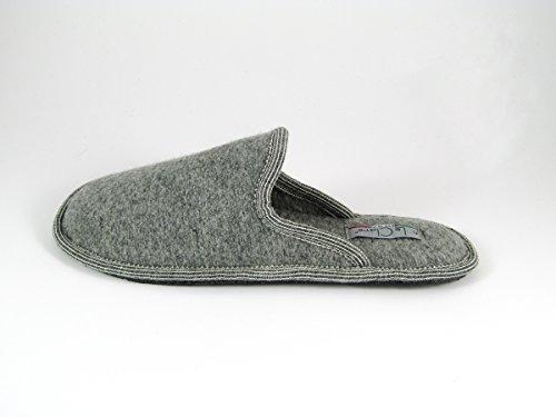 Pantofole da Donna Invernali a Righe Grigio Chiaro