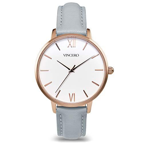 Vincero Luxury Women s Eros Wrist Watch with a Leather Watch Band 38mm Analog Watch Japanese Quartz Movement